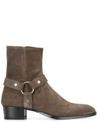 Saint Laurent Classic Wyatt 40 Harness Boots
