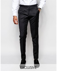 Hart Hollywood By Nick Hart 100% Wool Suit Pants In Slim Fit