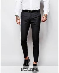 Heart Dagger Heart Dagger Suit Pants In Birdseye Fabric In Super Skinny Fit