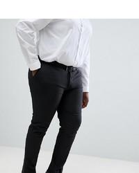ASOS DESIGN Plus Skinny Suit Trousers In Charcoal