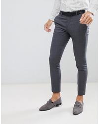 Jack & Jones Premium Suit Trouser In Super Slim Fit Grey