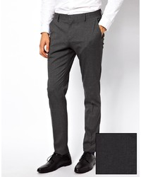 Skinny fit suit pants in charcoal medium 167887