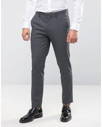 Asos Skinny Suit Pants In Charcoal