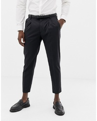 United Colors of Benetton Slim Fit Pleat Front Suit Trousers In Grey