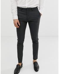 Burton Menswear Super Skinny Fit Smart Trousers In Grey