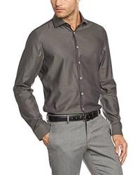 Spread Kent Business Shirt Grey Grau 38 Cm