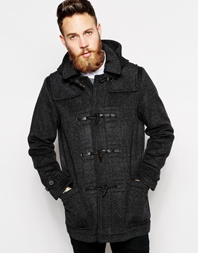 Asos Brand Wool Duffle Coat With Check Lining   Where to buy & how ...