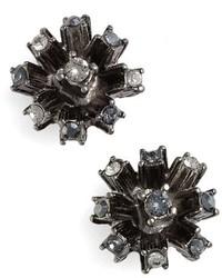 Oscar de la Renta Crystal Firework Stud Earrings