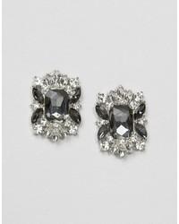 Asos Square Jewel Stud Earrings