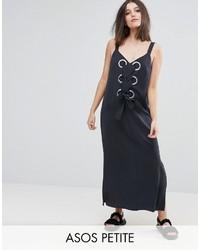 Asos Petite Petite Eyelet Detail Maxi Dress