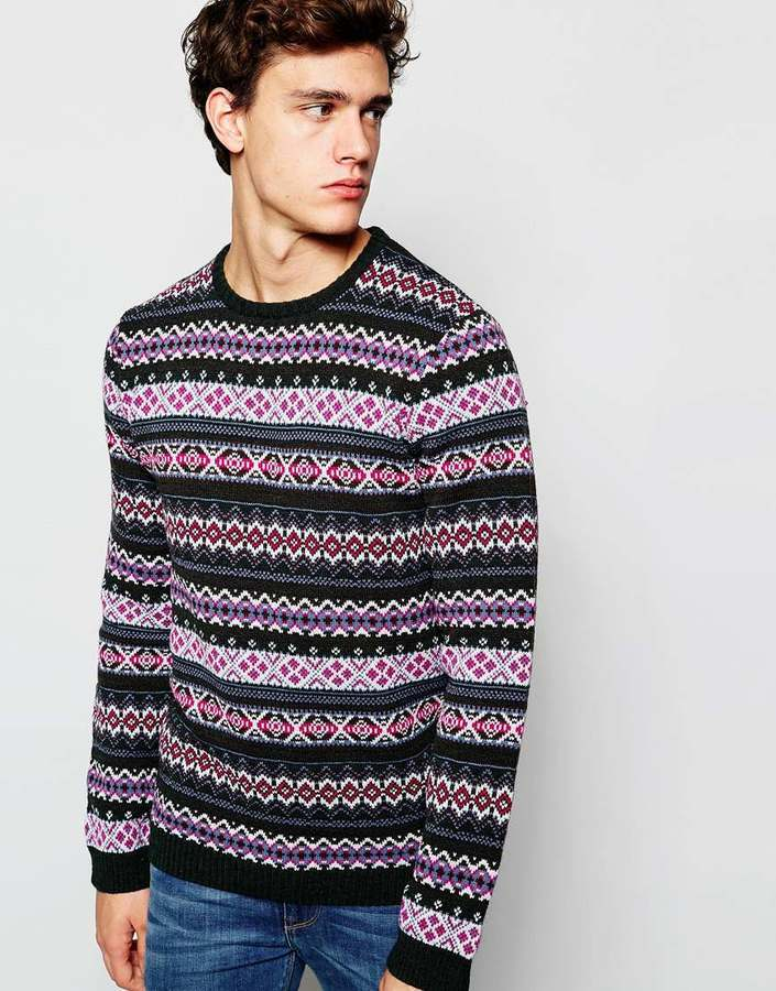 Asos Brand Sweater With Fairisle Pattern | Where to buy & how to wear