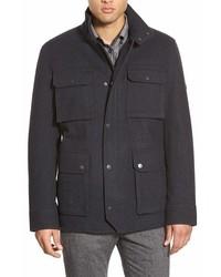Wool blend melton field jacket medium 380609