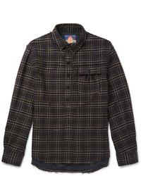 Charcoal Flannel Long Sleeve Shirt