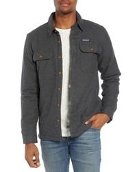 Charcoal Flannel Shirt Jacket