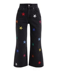 The Ragged Priest Galaxy Flared Jeans Charcoal