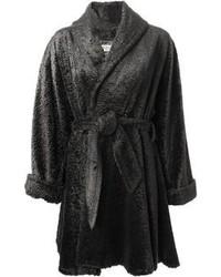 Lanvin Vintage Faux Fur Belted Coat