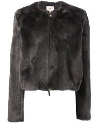 Charcoal Fur Jacket