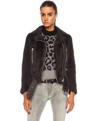 Acne Studios Mock Felted Shearling Jacket