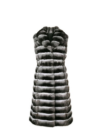 Liska Sleeveless Long Fur Coat