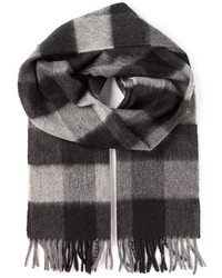 Checked scarf medium 121704