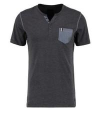 Pktgms print t shirt dark grey melange medium 4163515