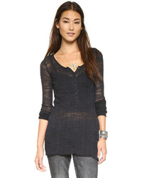Free People Ribbed Up Henley Top