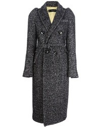 2 double breasted herringbone coat medium 25951