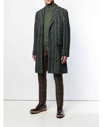 Etro Herringbone Single Breasted Coat