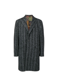 Etro Herringbone Single Breasted Coat