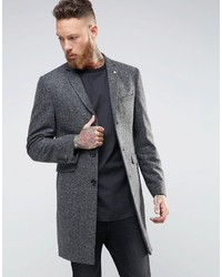 Noose Monkey Herringbone Overcoat