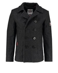 Superdry Rookie Short Coat Charcoal