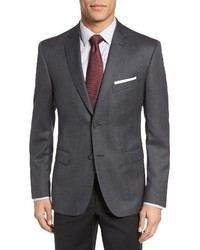 Classic fit herringbone wool sport coat medium 1247865