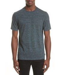Charcoal Horizontal Striped Crew-neck T-shirt