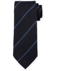 Ermenegildo Zegna Woven Striped Silk Tie