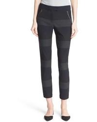 Veronica Beard Stellan Stripe Skinny Crop Pants