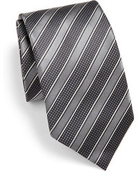 Charcoal Horizontal Striped Tie