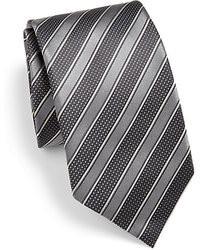 Charcoal Horizontal Striped Tie