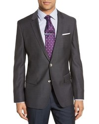 Charcoal Houndstooth Blazer