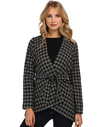 Charcoal Houndstooth Tweed Jacket
