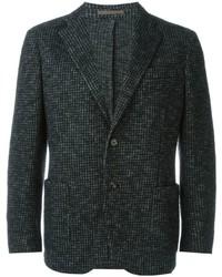 Eleventy Houndstooth Pattern Blazer