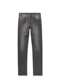 Isaia Slim Fit Stretch Denim Jeans