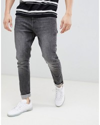 Esprit Slim Fit Tapered Jeans In Grey Wash