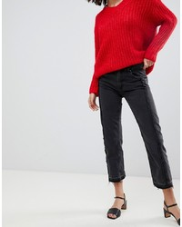 Mango Straight Jean With Freyed Detailing