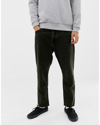 Cheap Monday Tapered Cropped Fit Jeans In Black And Yellow Tint