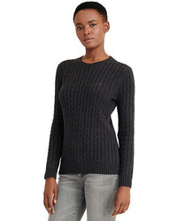 Charcoal Knit Cable Sweater