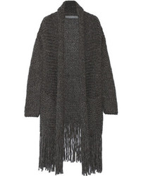 Fringed alpaca blend cardigan medium 106769