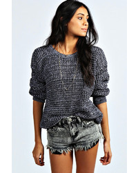 Boohoo Mila Marl Knit Fisherman Jumper