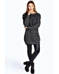 Boohoo Talisa Oversized Turtle Neck Soft Knit Jumper