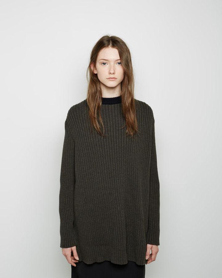 Marni Open Back Rib Knit Sweater