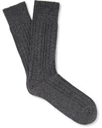 Hugo Boss Three Pack Ribbed Knit Socks